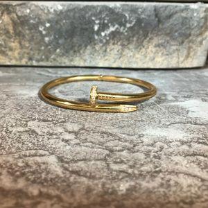 Nail Style Love Bangle Bracelet